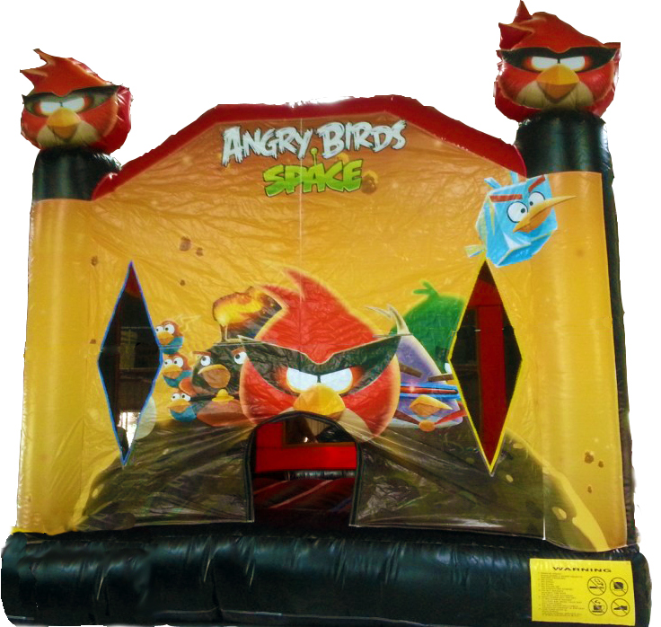 Space Angry Birds Moonbounce