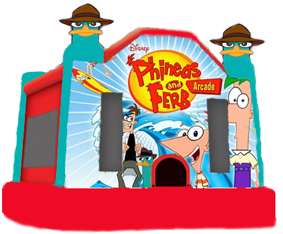 Phineas and Ferb Moonbounce