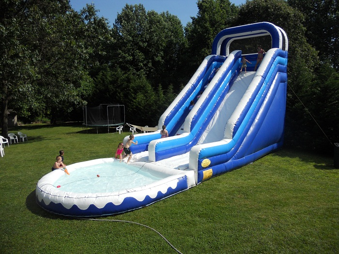 Inflatable Water Slide water slides and slips for rent in maryland - bouncy rentals, llc