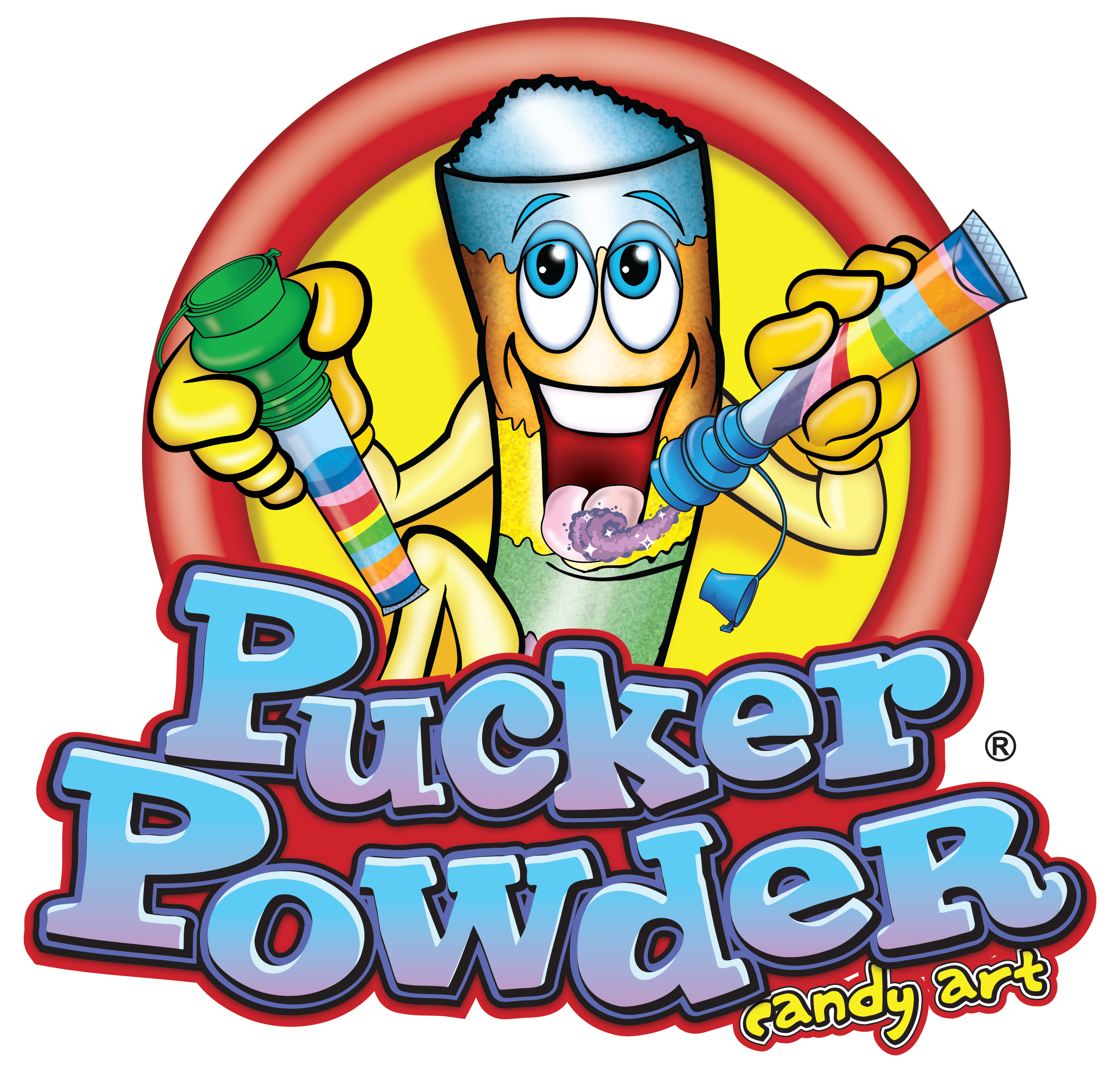 Pucker Powder Logo Pucker Powder Candy Art